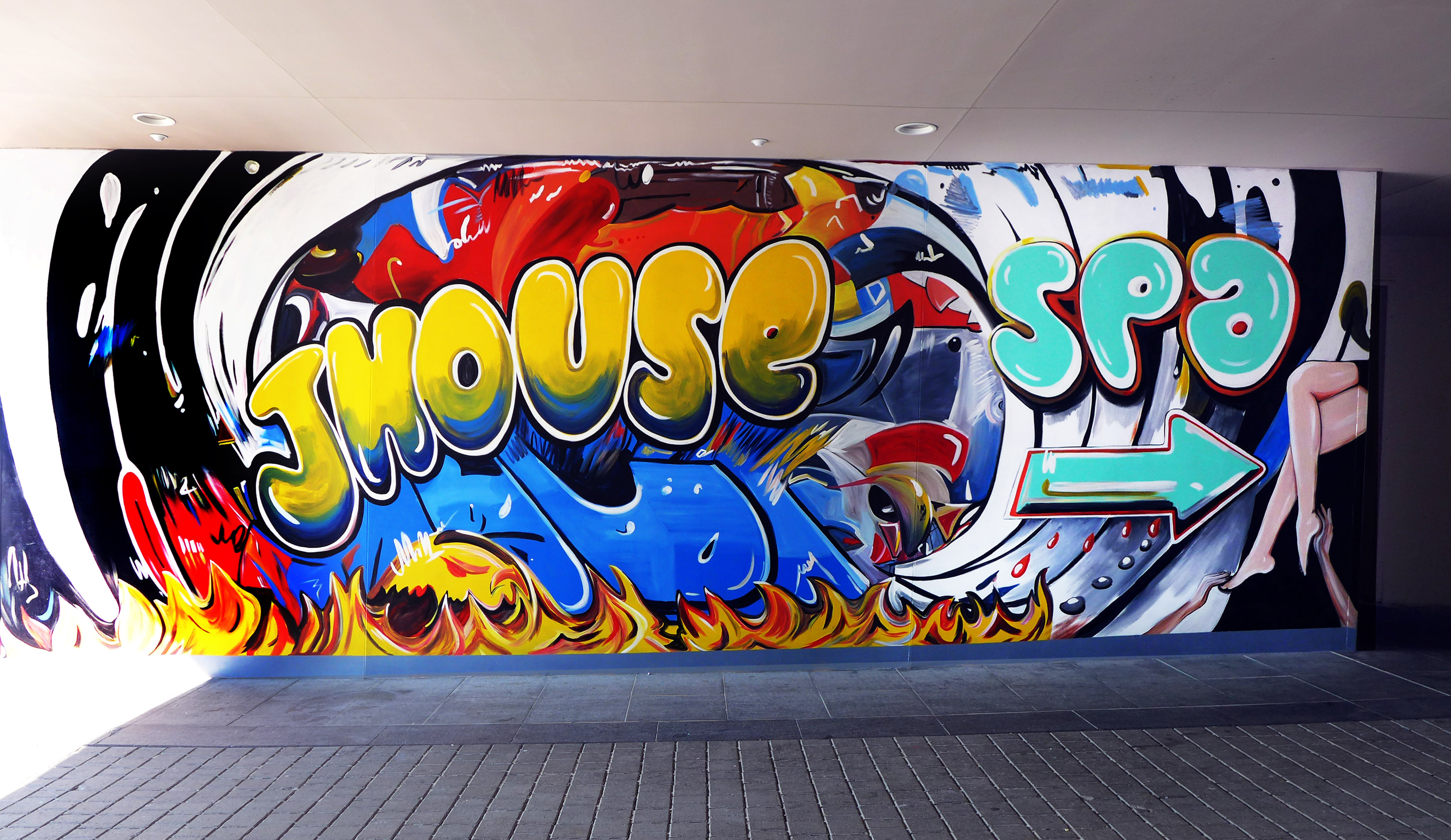 MMAD Graffiti Style Hotel Mural