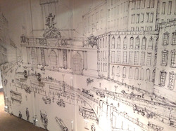at the Gotham Hotel by Manrique Mural Art and Design