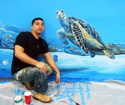Piero Manrique with MRF Mural