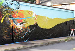 Start of Mamroneck Street Mural