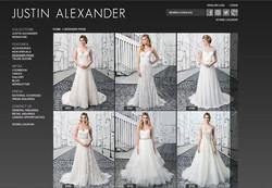 Justin Alexander Bridal website