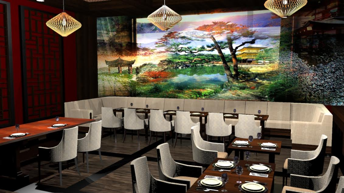 Asian Landscape Mural Design by MMAD