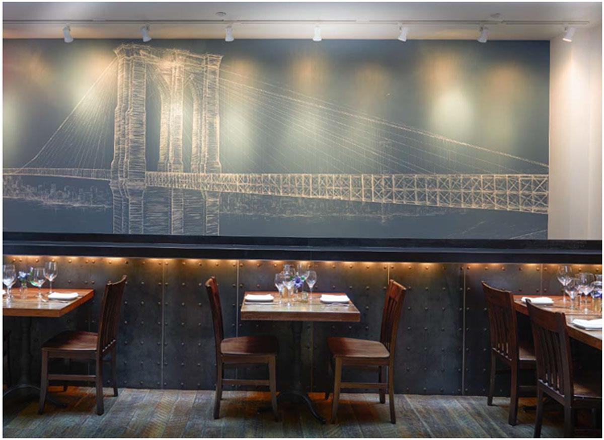 Brooklyn Bridge Wall Mural by MMAD