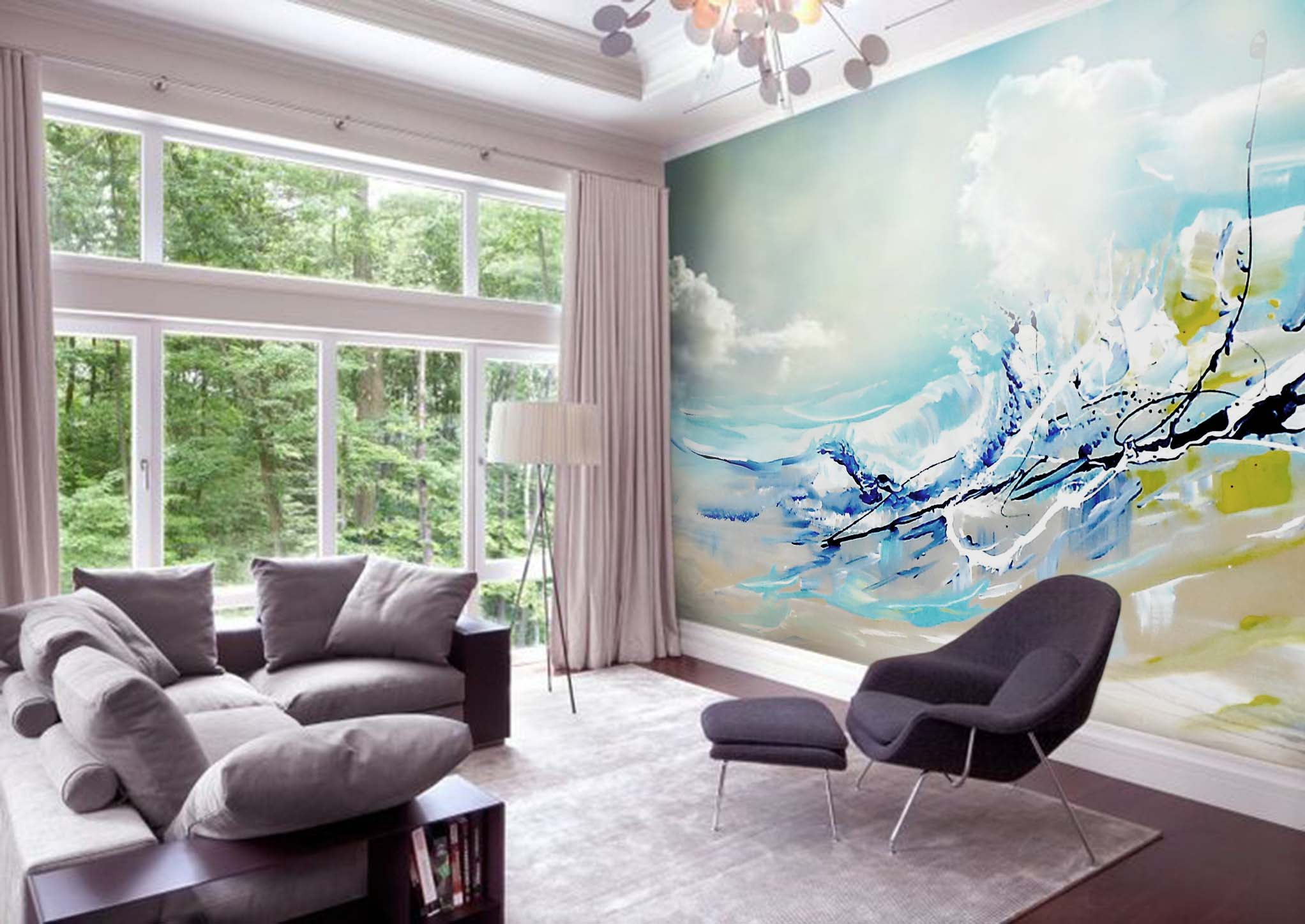 Abstract Ocean Mural by MMAD
