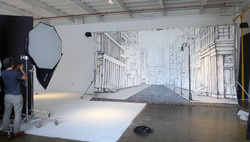 Piero Manrique's NYC Mural Prepped for Photo Shoot
