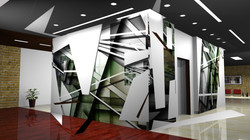 NY Muralist Manrique Office Mural