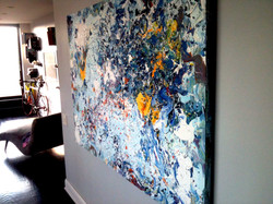 Piero Manrique abstract in Yonkers loft apartment
