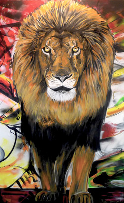 Center Lion of MMAD Wall Mural in NJ