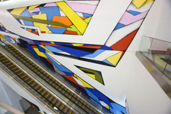 Abstract mural by Piero Manrique