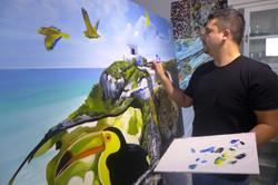 Piero Manrique Creates Yucatan Mural