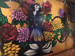 Detail from Manrique's Day of the Dead Mural