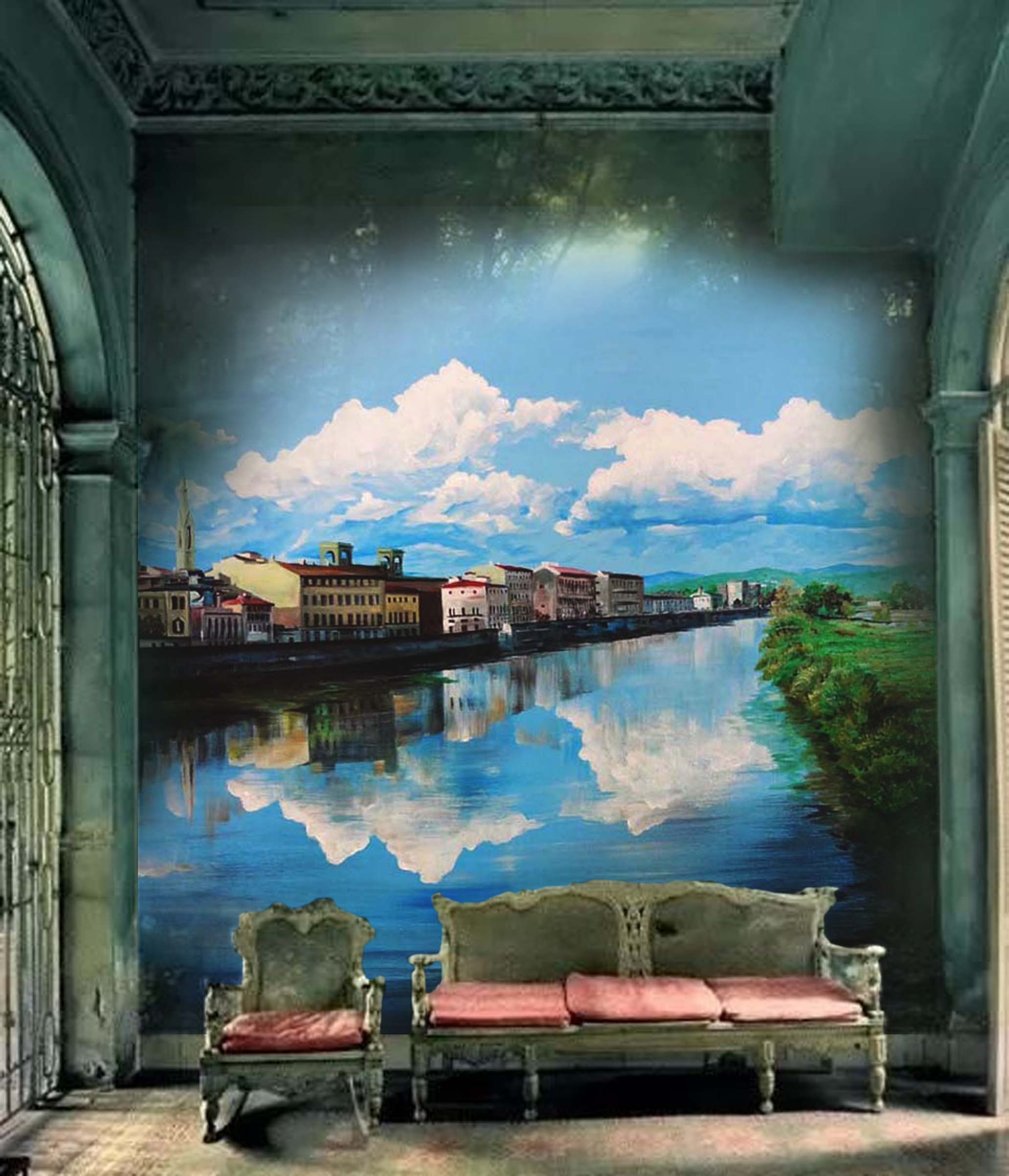 Riverside Landscape Mural by MMAD