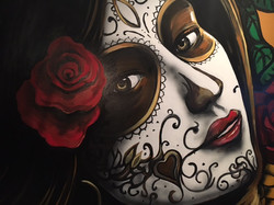Detail of Manrique's Day of the Dead Mural