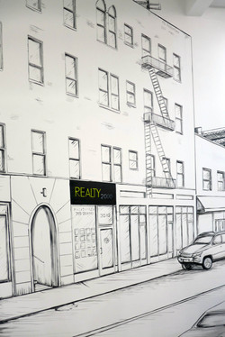 Detail of Realty 2000 Mural by MMAD