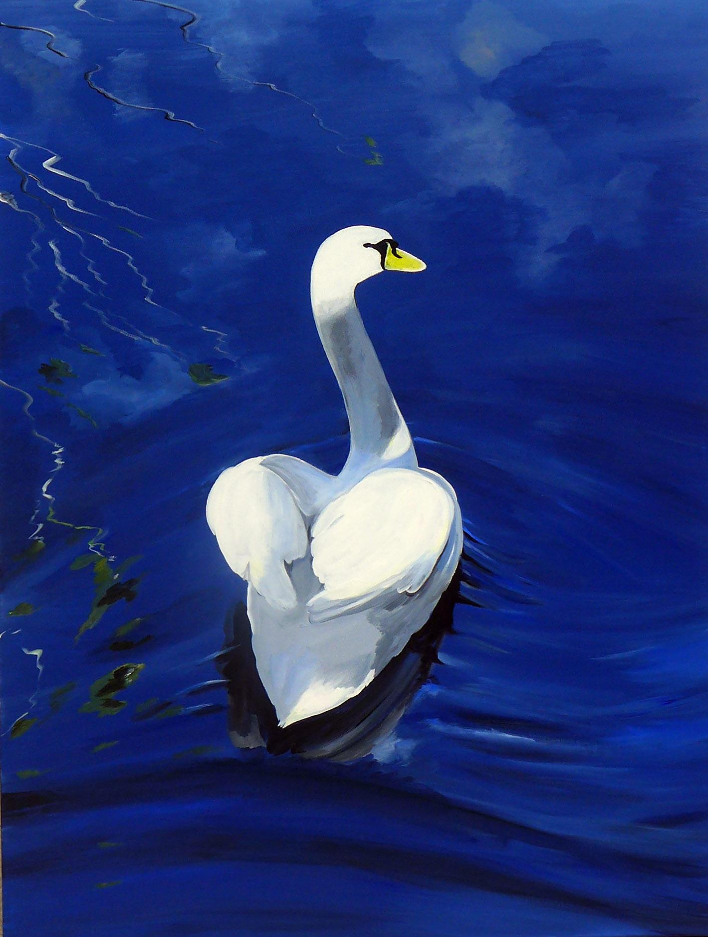 Piero Manrique Swan Detail