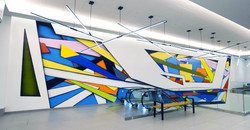 City Center lobby mural by Manrique