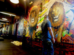 Lion Mural by MMAD in Production
