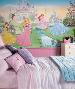 Princess mural for child's bedroom