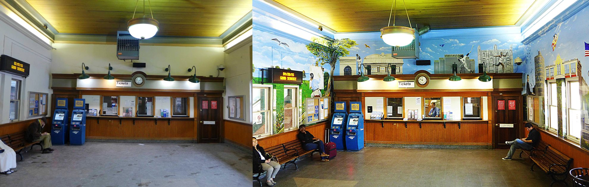 Before & After MMAD Station Mural