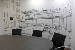 Realty 2000 Conference Room Mural