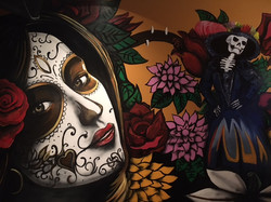 Close Up of MMAD Day of Dead Mural