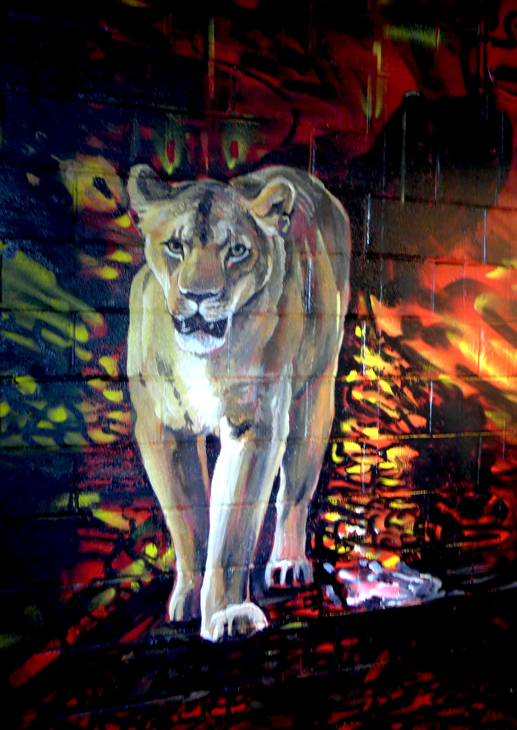 Lion Detail from MMAD Custom Mural