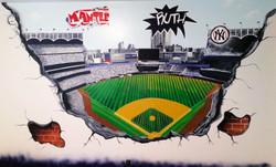 Fairfield County baseball mural by Piero Manrique