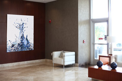 Piero Manrique Painting in NJ Lobby