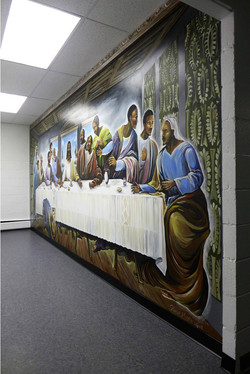 Last Supper Mural by Manrique