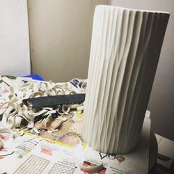 porcelain cylinder textured