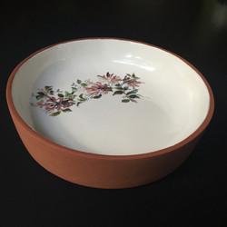 Terracotta & floral bowl