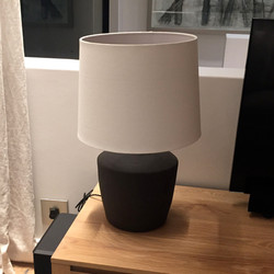 Black lamp base