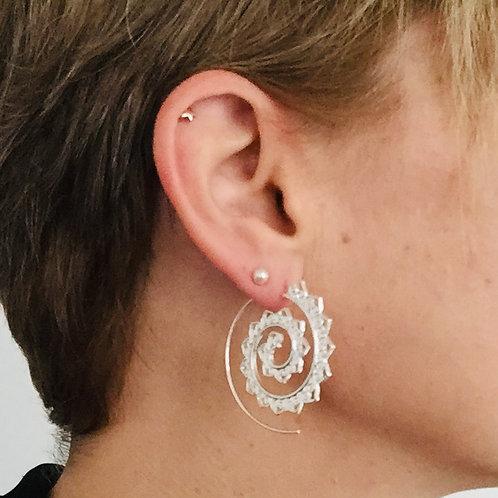 Boucles d'oreilles tribales spirales