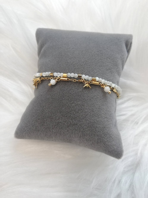 Bracelet  en acier blanc