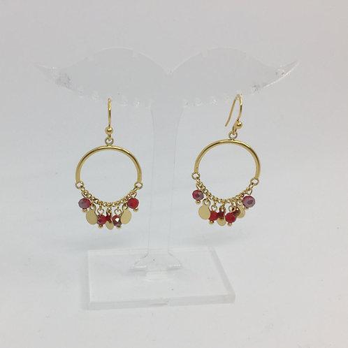 Boucles d'oreilles dorée