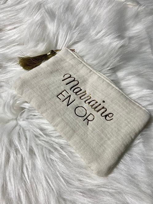 "Pochette message "" Marraine en or"""
