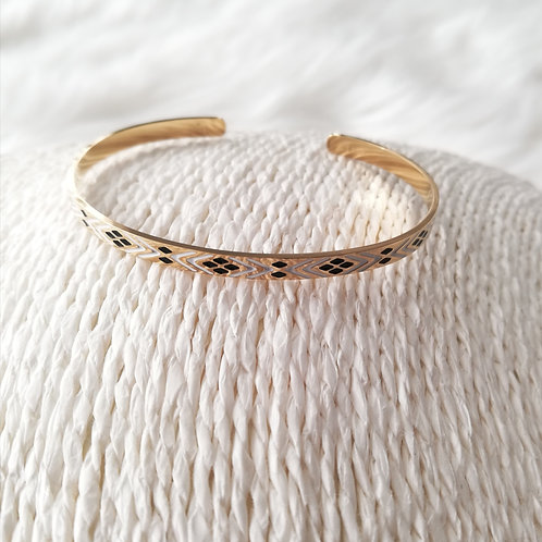 """Bracelet en acier doré  """"Ikita"""""""