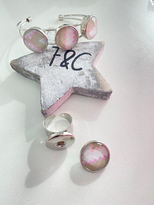 Bracelet pour pression 20mm pour bijoux interchangeables