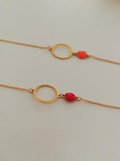 Bracelet  en acier  coloré