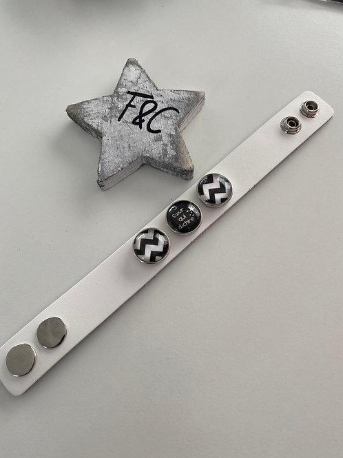 Bracelet en cuir pour pression 20mm pour bijoux interchangeables