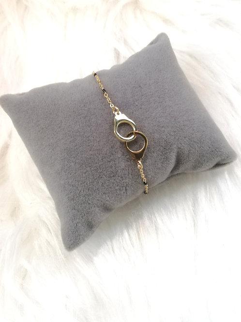 Bracelet menotte en acier