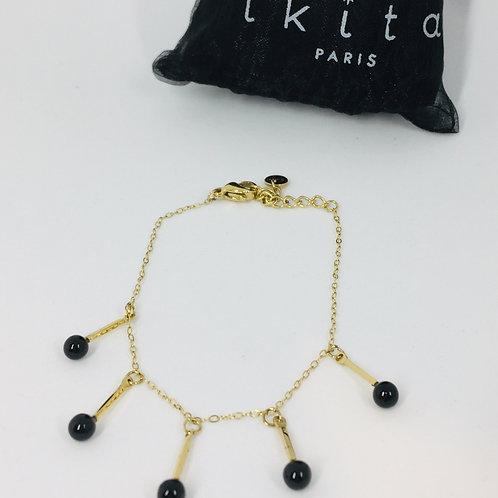 """Bracelet chainette en acier doré """"Ikita"""""""