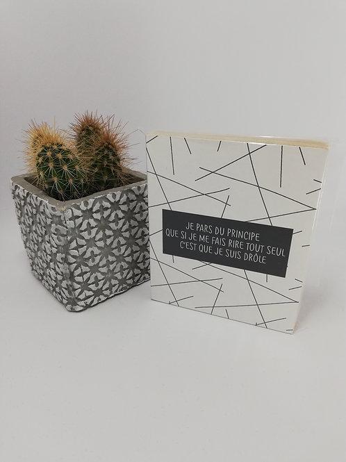 Blok+ Déco en bois 10/12 cm