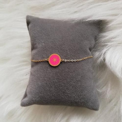 Bracelet  en acier doré coloré