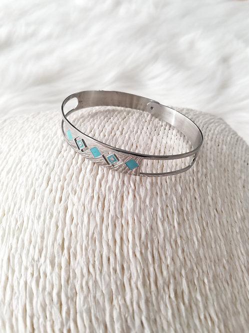 """Bracelet  en acier argenté """"Ikita"""""""