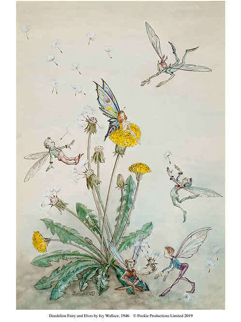 Dandelion Fairy and Elves Print
