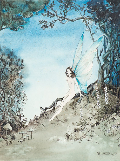 Blue Twilight Fairy Print