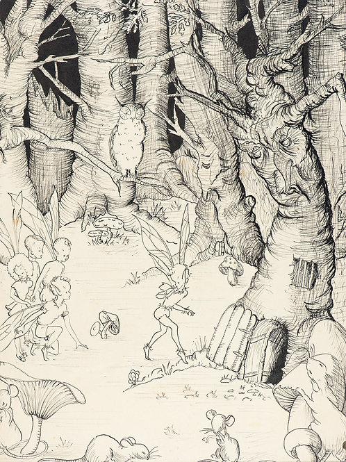 Woodland Folk Print