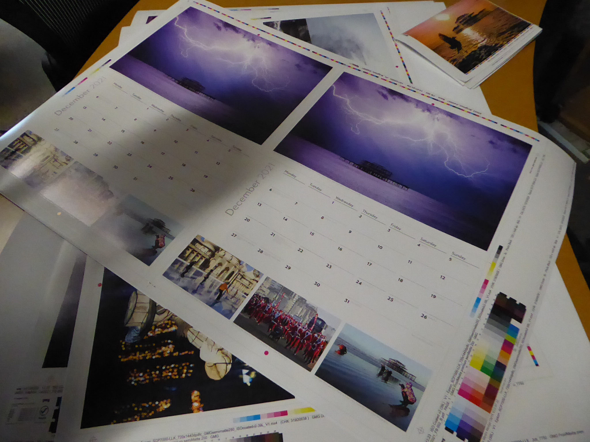 Brighton and Hove Calendar getting printed