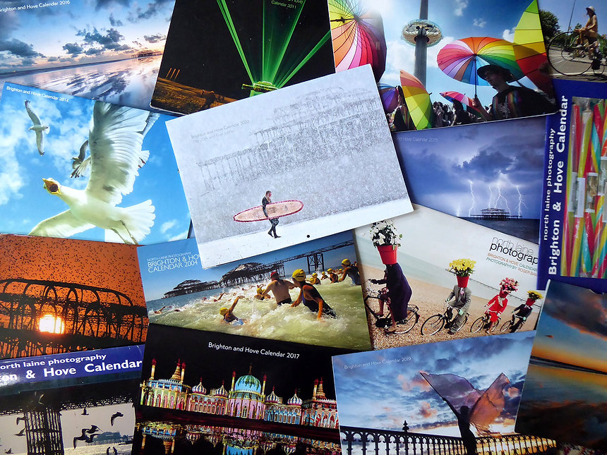 Collection of the Brighton and Hove Calendars for the past 20 years